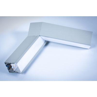 Profil Liniowy LED Greenie Linea wpuszczany - narożnik wertykalny 35° 20W szara obudowa