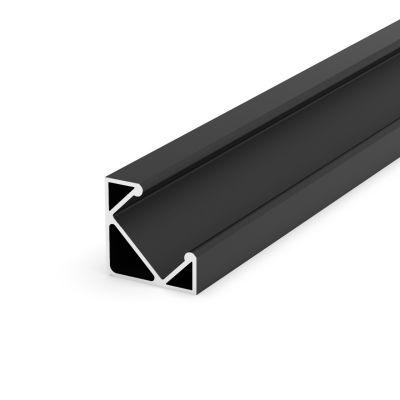 Profil LED Greenie P3-1C 1m Typ C kątowy czarny lakierowany
