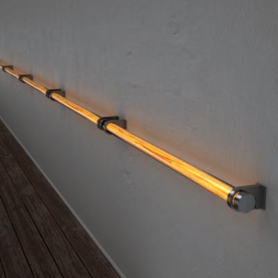 Poręcz podświetlana LED Wooden REED Apple Stal nierdzewna Wi-fi Control