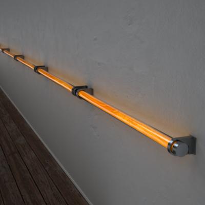 Poręcz podświetlana LED Wooden REED Olive Stal nierdzewna Wi-fi Control
