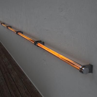 Poręcz podświetlana LED Wooden REED Tulip Stal nierdzewna Wi-fi Control