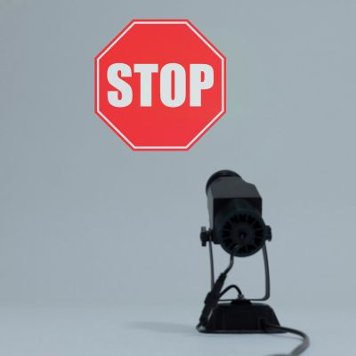 Szkiełko 1 kolor - Akcesoria do Projektorów Logo LED - Stop