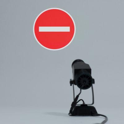 Szkiełko 1 kolor - Akcesoria do Projektorów Logo LED - Zakaz