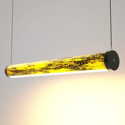 Lampa LED Wooden TUBE Bircheye Wi-Fi-Control