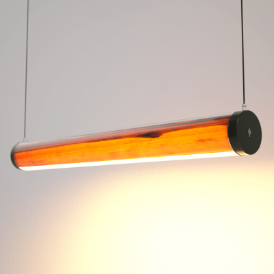 Lampa LED Wooden TUBE Walnut Wi-Fi-Control