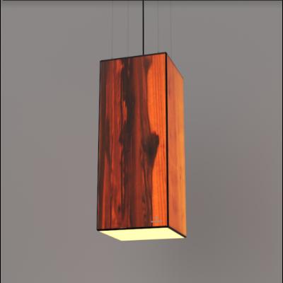 Lampa wisząca LED Wooden TIMBER Walnut Wi-fi Control