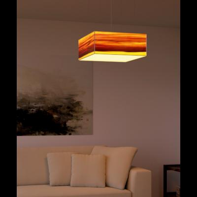 Lampa wisząca LED Wooden RAY RGBW Wifi-Control