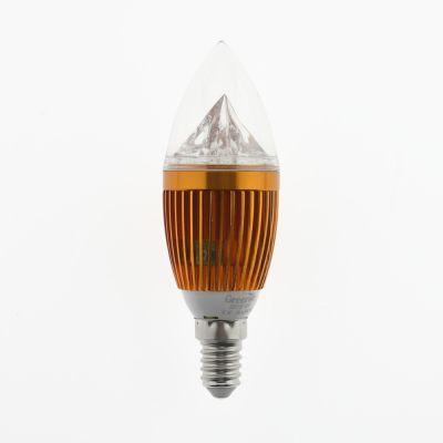 Żarówka LED E14 Candle 5W diament złota