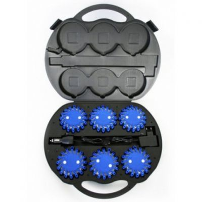Zestaw 6 x Dysk sygnalizacyjny Mactronic blue z walizką